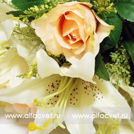 Купить розы и лилии интернет магазин искусственных цветов Альфацвет ... f0eb8807a3a87